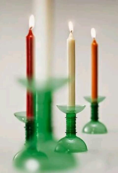 How to make Christmas ornaments with PET bottle with candles
