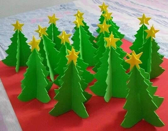 How to make Christmas ornaments on EVA table trees