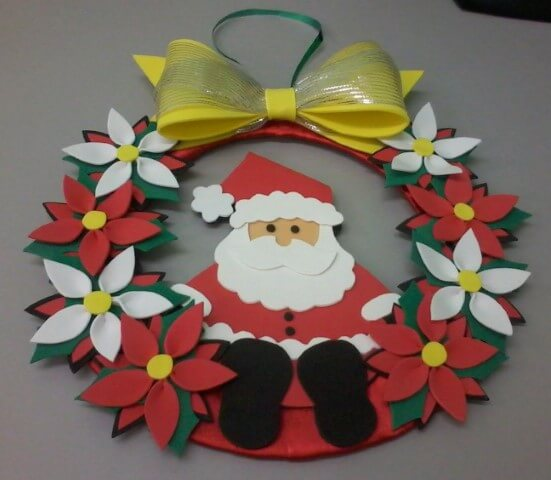 How to make Christmas ornaments in EVA forming garland with Santa Claus