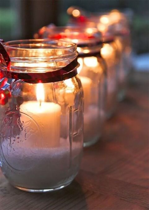 How to make Christmas ornaments with glass jars