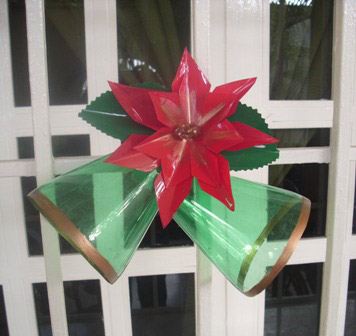 How to make Christmas ornaments with PET bottle imitating bells