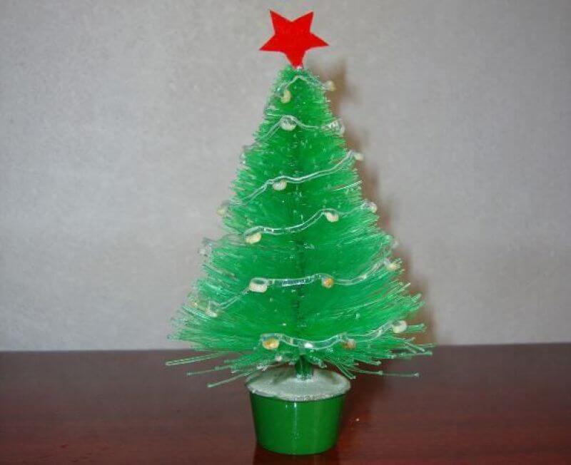 How to make Christmas ornaments with PET bottle mini table tree
