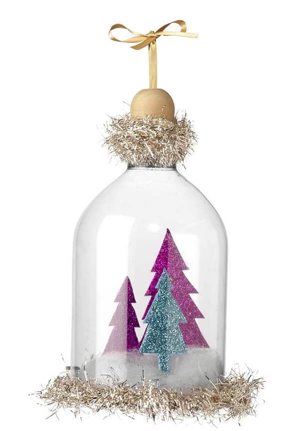 How to make Christmas ornaments using the PET bottle dome