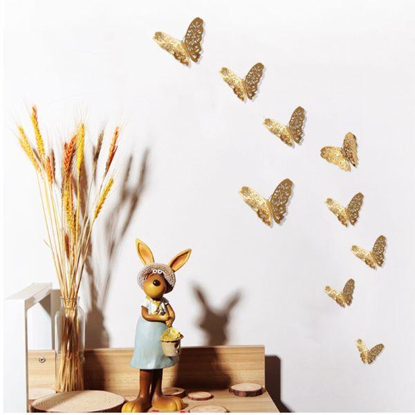 golden paper butterflies