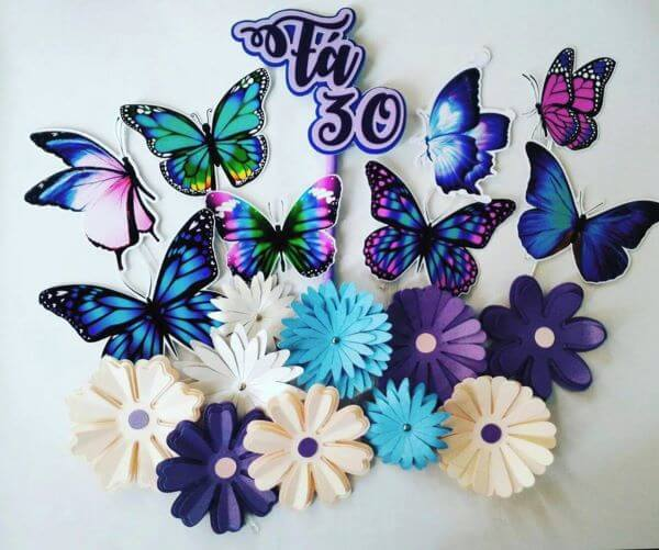 paper butterfly molds