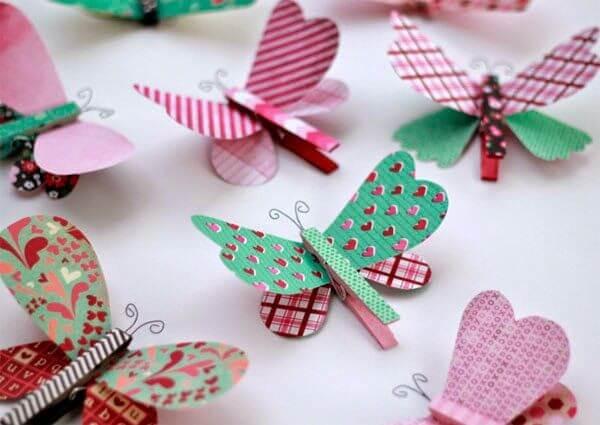 Stamped paper butterflies