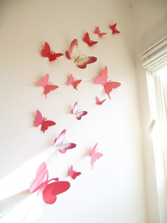 pink paper butterfly molds