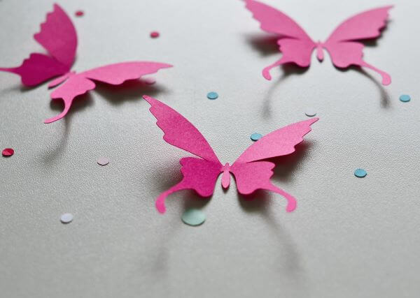 How to make pink paper butterfly