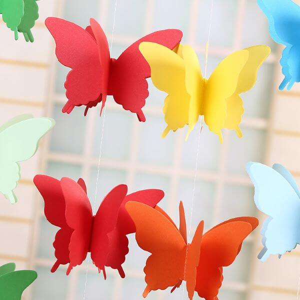 paper butterfly curtains