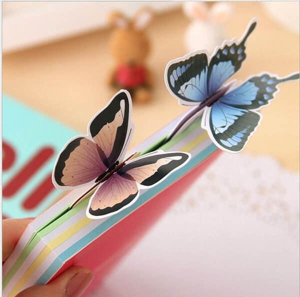 Paper butterflies for books