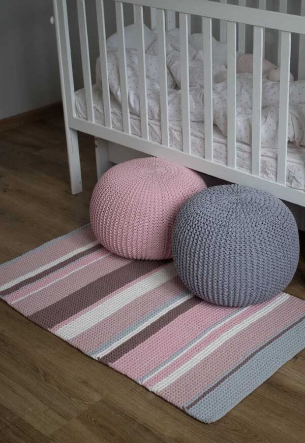 round crochet puff