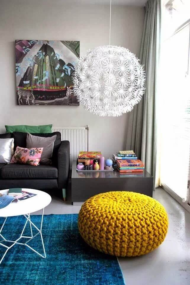 Crochet Puff with Fashion Color