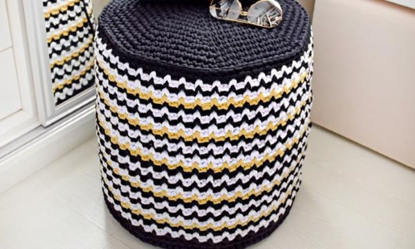 crochet puff cover
