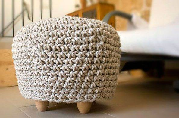 crochet cover for puff