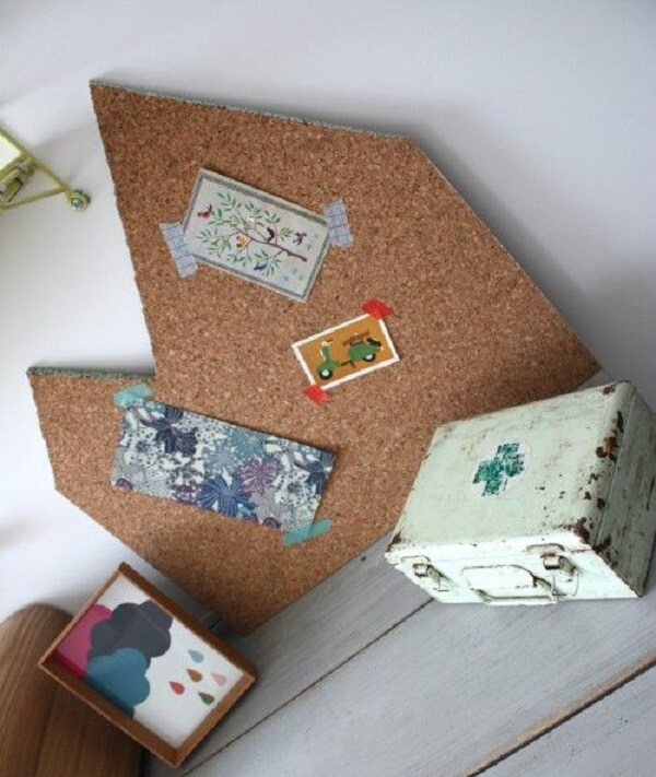 Cork board with creative shape