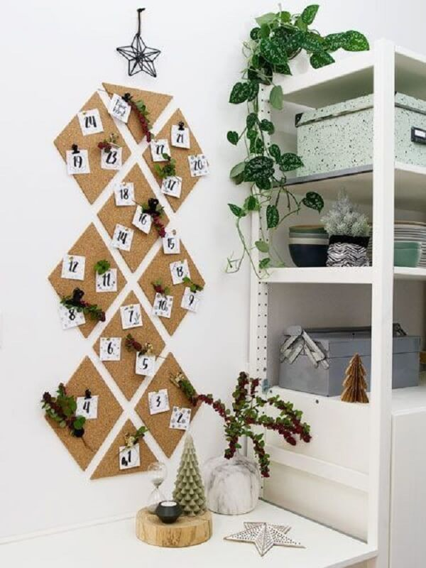 Environment decorated with corkboard