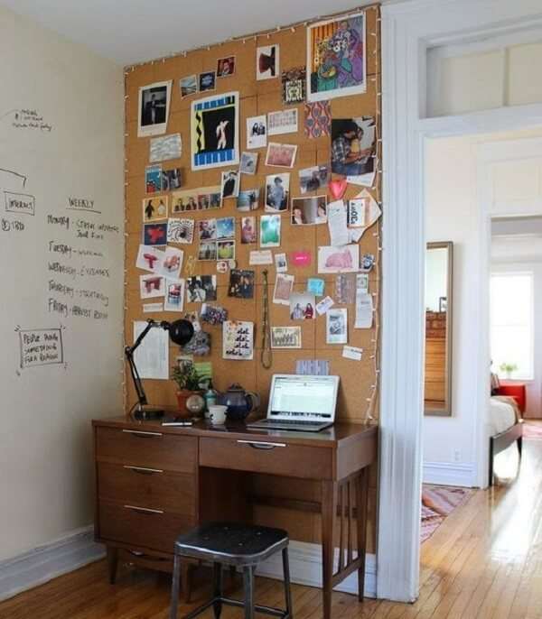 Complement the cork board with flasher on the side