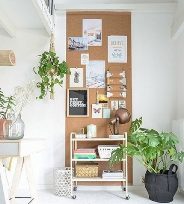 A large cork board is great to assist with daily tasks