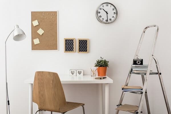 A mini cork notice board in your environment can assist in organizing daily tasks and reminders