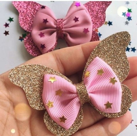 how to make ribbon bow - colorful bows with stars