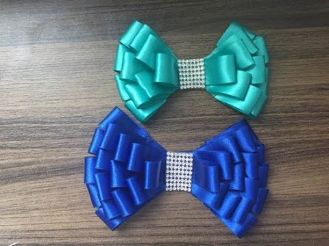 how to make ribbon bow - chanel ribbon bows with beads