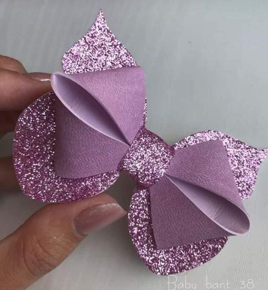 how to make ribbon bow - shiny purple bow