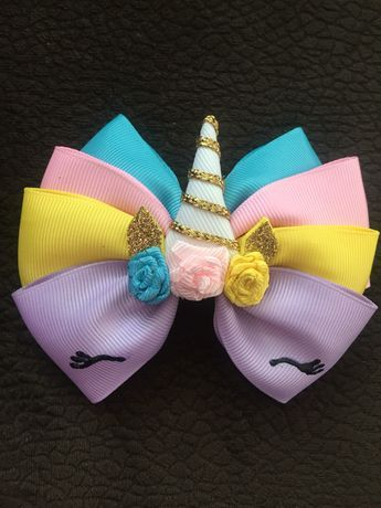 how to make ribbon bow - unicorn bow