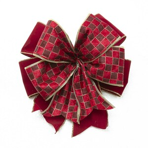 how to make ribbon bow - double red ribbon bow