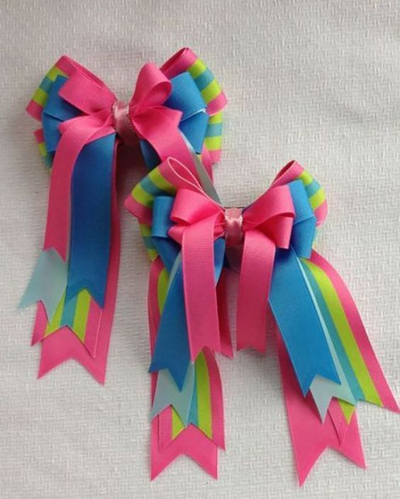 how to make ribbon bow - big colorful bows