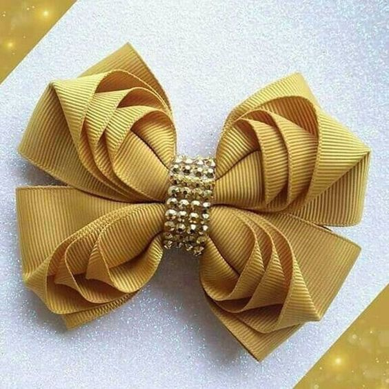 how to make ribbon bow - classic beige bow