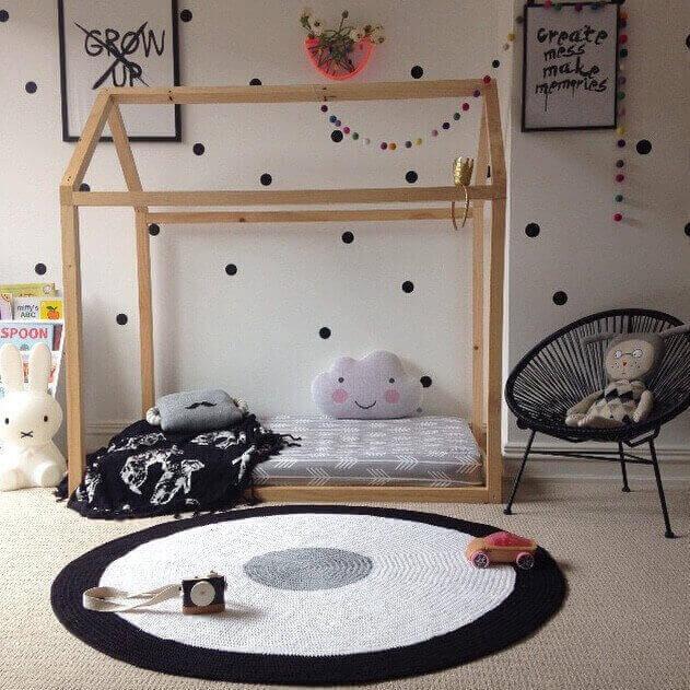 Round crochet rug for large children's room