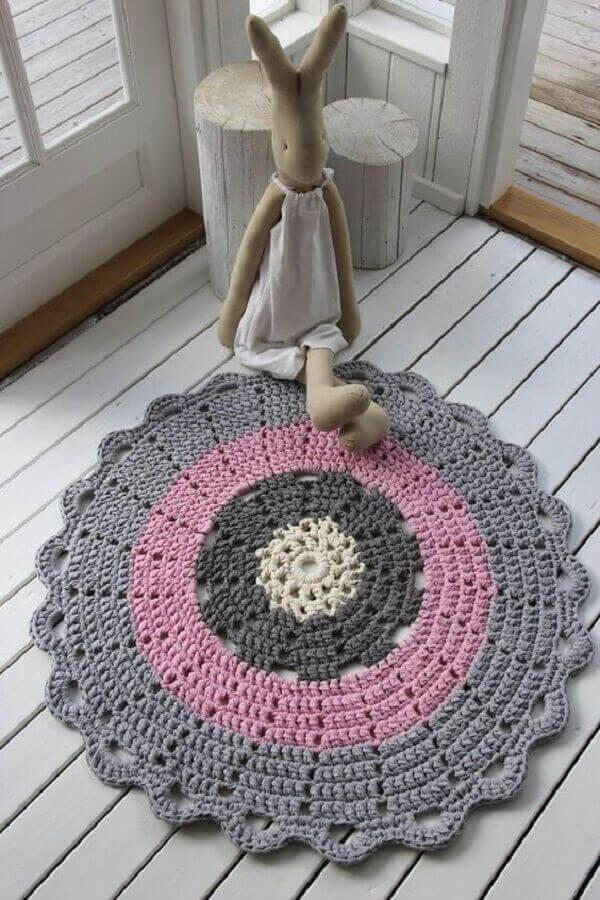 Round crochet rug for small children's room