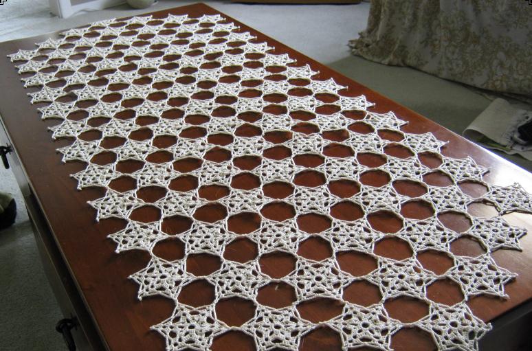 wide crochet table runner