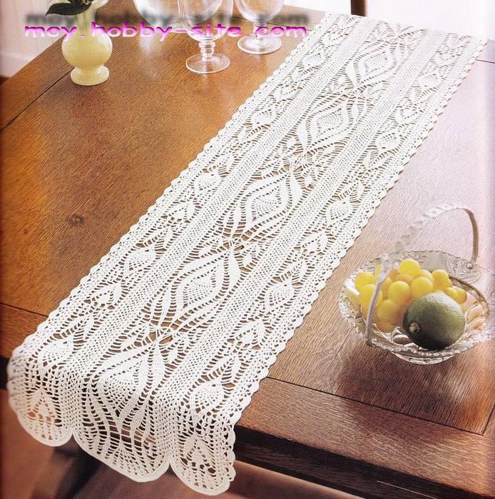 simple crochet table runner