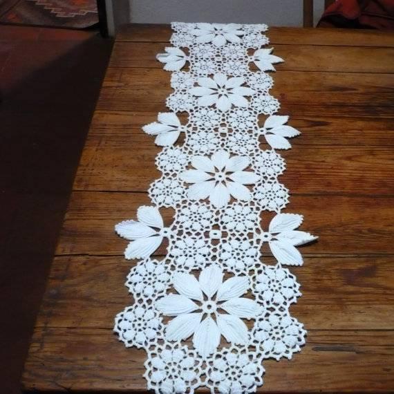large crochet table runner
