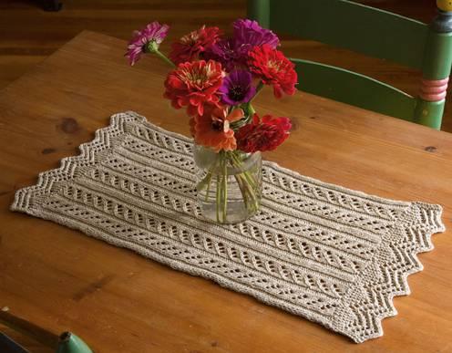 crochet table runner small