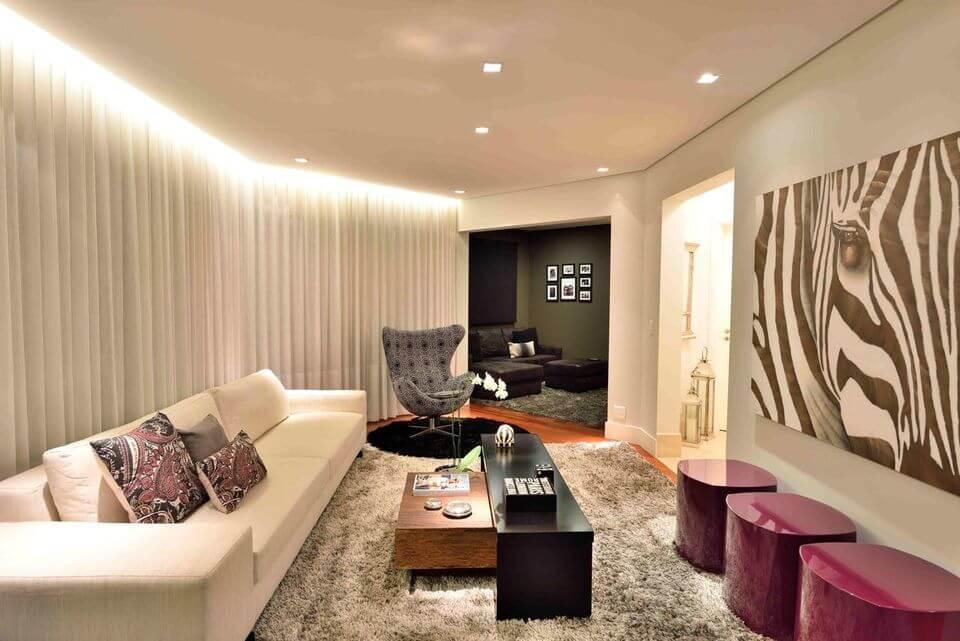 medusa rug - white sofa and shag rug