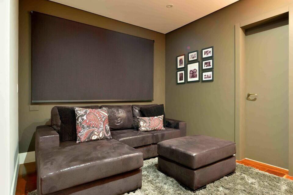 medusa rug - leather sofa and shag rug