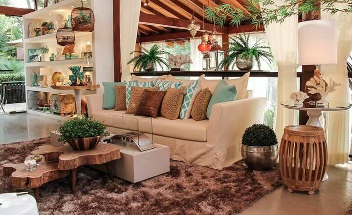 medusa rug - shag rug in living room