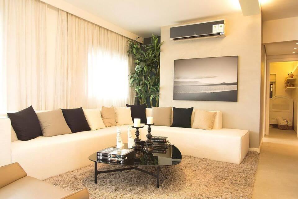 medusa rug - shaggy rug in gray living room