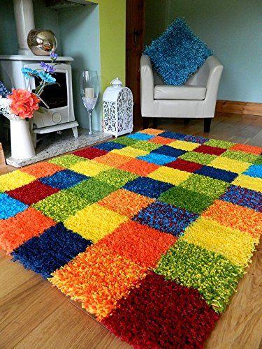 medusa rug - colorful plaid rug