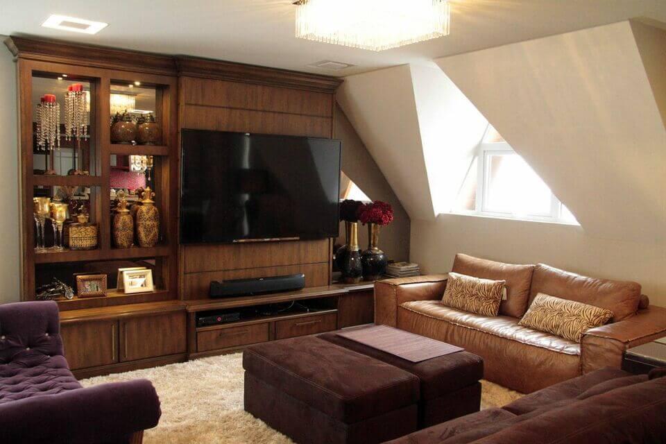 medusa rug - living room with leather sofa and downy rug