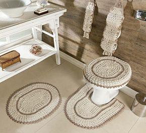 neutral crochet toilet paper holder
