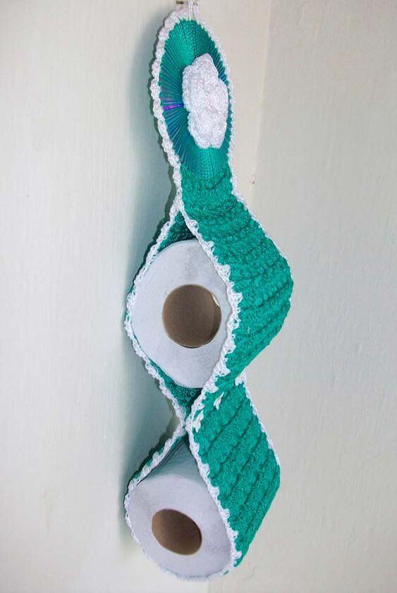 turquoise toilet paper holder
