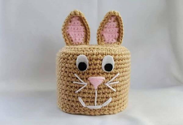 How to make crochet toilet paper holder