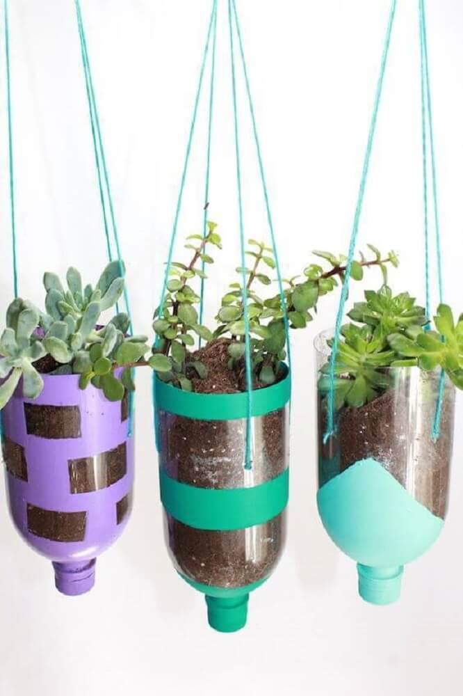 Crafts with pet bottles for vegetable garden