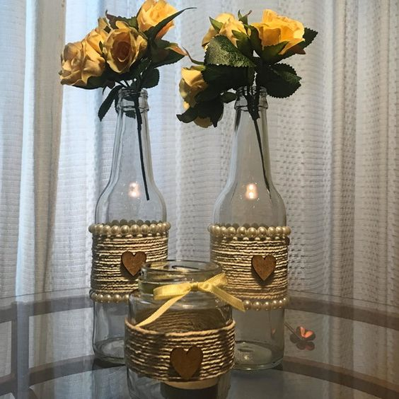 Decorated Bottles - bottles like decorated vase