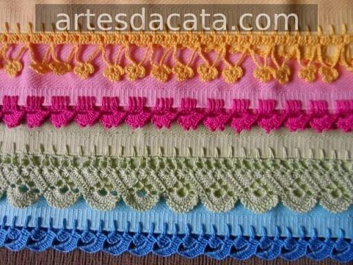 Colorful towels with single crochet nozzle Foto de Artes da Cata