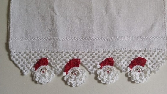 Crochet hook with santa claus Foto de Arte aos 4 Ventos photo