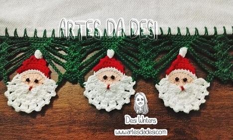 Crochet hook for christmas themed dishcloth Foto de Artes da Desi